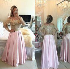 Arabic Dubai Illusion Lace Long Sleeve Evening Gowns 2016 Robe Gold Lace Beaded A Line Party Dresses Vestidos Prom Dresses Plus Size Short Prom Dresses Princess Prom Dress
