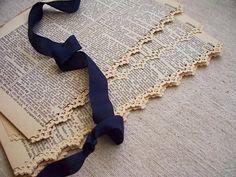 vintage dictionary paper lace cut edge