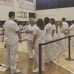The #CCACnursing graduates are lining up! Not long now until the #CCAC Nursing Pinning Ceremony is underway! #CCACgrad