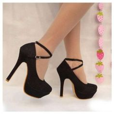 Dazzling and Fashionable Style Lace Embellished High-Heeled Shoes For Women