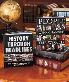 Discover the fascinating people and exciting events that have shaped our world in beautiful Historic Moments Gift Books. These volumes are packed with stories, facts and full-color pictures. History Through Headlines covers major historical events from the death of Queen Victoria in 1901 through the election of Barack Obama in 2008.