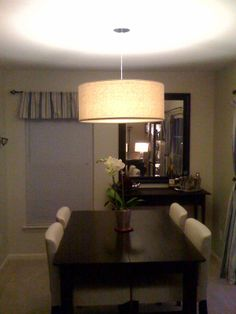 drum dining room light | LOVE!!!!! this drum light fixture from West Elm - I mean LOVE