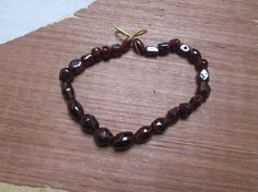 """Full strand  8"""" inches , Red  Garnet gemstone  briolettes  beads(D400), 100% Natural by JaiVyavsayBeads on Etsy"""