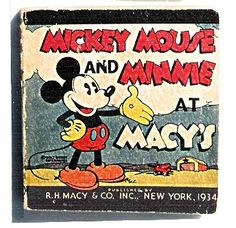exceptionally rare Disney books also have a Macy's department store tie-in. In 1934 and 1935, Disney licensee Whitman published small Big Little Book-type premiums, which were handed-out exclusively by the Macy's Toy Department Santa Claus.