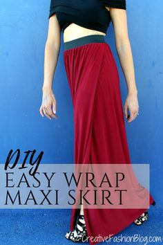 How To Sew A Skirt Beginner Tutorial - Maxi Skirts - Ideas of Maxi Skirts - how to sew a diy floor length maxi skirt with slit. This easy high waist diy maxi skirt tutorial is perfect for the beginner and onlyk takes a single seam to make! Sew Maxi Skirts, Diy Maxi Skirt, Maxi Skirt Tutorial, Maxi Skirt With Slit, Crochet Skirts, Skirt Patterns Sewing, Sewing Patterns Free, Free Sewing, Sewing Tips
