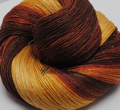 Gradient yarn Hand Dyed Seacell / Silk 205 gr