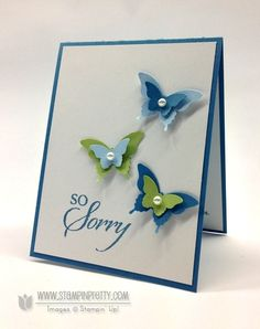 So Sorry stamp set - Mary Fish, Independent Stampin' Up! Demonstrator.  Details, supply list and more card ideas on http://stampinpretty.com/2013/04/quick-pretty-ppa-sympathy-card.html