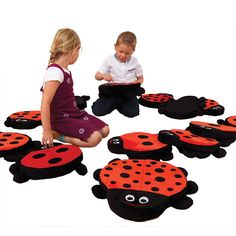 Back to Nature Counting Ladybug Floor Cushions - Set of 13 at SCHOOLSin