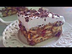 Jafa kolač/ Ništa brže,jednostavnije,ukusnije,jeftinije - YouTube Cake Recipes, Dessert Recipes, Homemade Cakes, No Bake Desserts, Cake Cookies, Tiramisu, Sweets, Baking, Ethnic Recipes