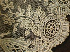 Antique Brussels Point de Gaze Needlelace Lace Trim
