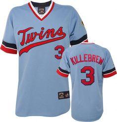 Minnesota Twins #3 Harmon Killebrew Light Blue Cooperstown Throwback Cool Base Men MLB Stitched Jers http://www.nfljerseys1967.com/mlb-jerseys-minnesota-twins-c-390_413.html
