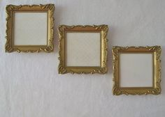 Vintage Trio Small Picture Frames Glass Covered Hong Kong 4 in x 4 in Plastic by VivaVera