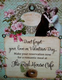 Looking for a MEMORABLE VALENTINE'S DAY dinner? Come spend Valentine's Day with us at RED HOUSE CAFE! www.redhousecafe.com