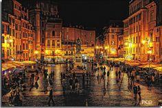 Piazza di Campo dei Fiori - Roma.  Just so beautiful, love it here❤️