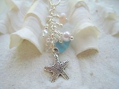 Mother's Day Sea Glass Necklace Starfish by beachglassshop on Etsy, $42.00