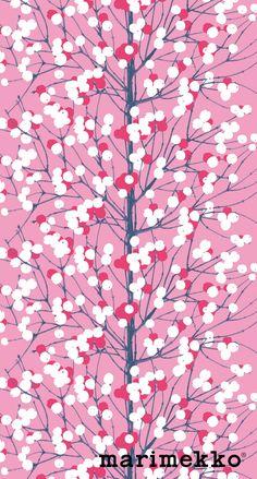 Marimekko Nature Pattern iPhone Wallpaper