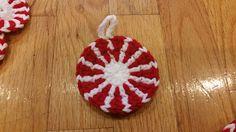 Peppermint Christmas Ornaments - free crochet pattern by Rachy SellsStuff
