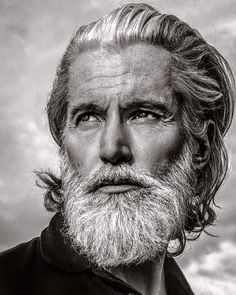 53 Magnificent Hairstyles for Older Men Mens Hairstyles With Beard, Hair And Beard Styles, Hair Styles, Beard Styles For Older Men, Old Man Portrait, Handsome Older Men, Grey Beards, Old Faces, Men With Grey Hair
