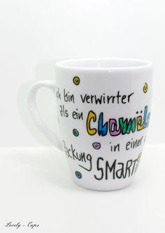 Schöne Tasse Chamäleon Smarties lustige Tasse von Lovely-Cups via dawanda.com
