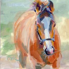 Nice painting of young horse