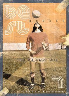 The Gods Of Football (Part II) by Marija Marković on Behance — George Best, United Kingdom