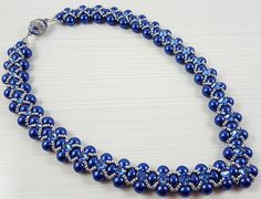 Blue Pearl Necklace Blue pearl Necklace Embellished with