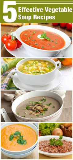 Here are 5 awesome soup recipes for weight loss─ no fat, just nutrtion and great taste!