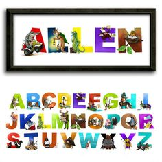 personalized name print for kids with fun illustrations for each letter http - Fun Letters To Print