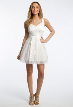 Tonal Lace Dress wit
