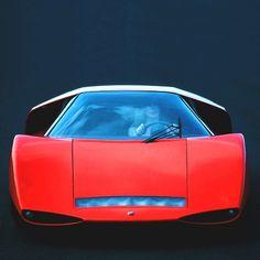 1969 Abarth 2000 Scorpione | Abarth 2000 Scorpio | Fiat | Pininfarina | Concept Car | SE010 | 2.0L Fiat-Abarth Tipo 236 Straight 4 295 hp | Top Speed 270 kph 168 mph | Flip-Up Panoramic Canopy Doors