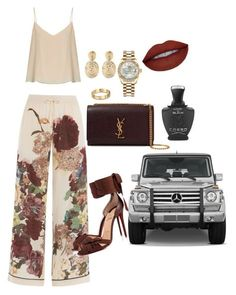 """The Life"" by keagarrett-kg on Polyvore featuring Valentino, Raey, Christian Louboutin, Yves Saint Laurent, Rolex, Gas Bijoux, Mercedes-Benz and Creed"