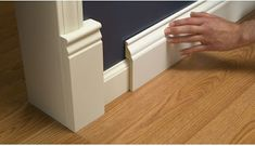Install Wide Baseboard Molding Over Existing Narrow Baseboard   A Stroll Thru Life   Bloglovin'