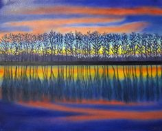 Reflected In You- Oil Painting via Cloud 9 Gallery. Click on the image to see more!