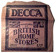British Home Stores Record Bag British Home Stores, Store Signage, Vinyl Store, Vintage Signs, Vinyl Records, Whiskey Bottle, Crates, Retro, Reggae