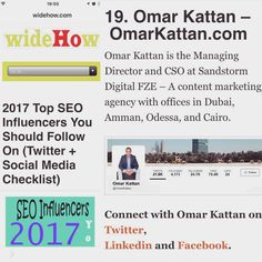 Chuffed to be on this list of the best of the best in our industry. http://widehow.com/seo-influencers-follow-on-social-media/ #SEO