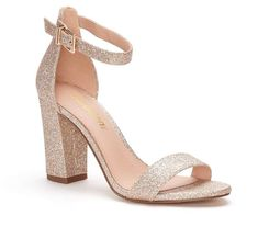 Dressy ensembles get a picture perfect finish with madden NYC. These Brigid pumps offer a sleek go-to style atop a trendy block heel. Funny Shoes, Cute Shoes, Rose Gold Glitter Heels, Dorothy Shoes, Peep Toe Wedding Shoes, Ankle Strap High Heels, Mini Vestidos, Dream Shoes, Womens High Heels