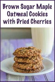 Brown Sugar Maple Oatmeal Cookies are thick, sturdy, chewy cookies ...