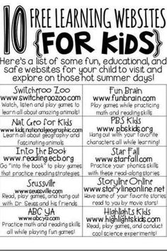 Education can still be fun! Check out these 10 free educational websites for kids.