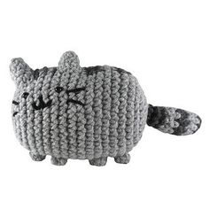 Pusheen the cat plushie (with free crochet pattern)