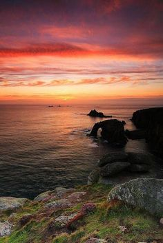 Lands End Sunset, Cornwall