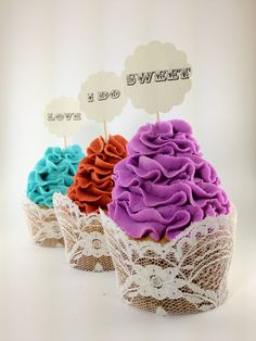 Sweet & Simple Cupcake toppers   Sweet Yum I do by baileymama5, $10.00