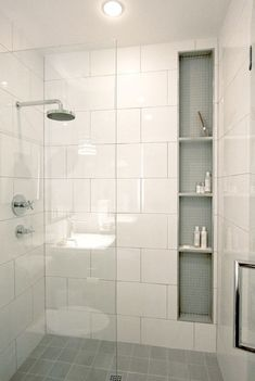 Top Inspire Small Bathroom Shower Remodel Ideas - Page 15 of 30 Bathroom Renos, Bathroom Renovations, Remodel Bathroom, Bathroom Ideas, Master Bathroom, Basement Bathroom, Bathroom Organization, Shower Ideas Bathroom, Bathroom Mirrors