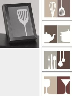 Kitchen Art - Free PDF Printables in & Sizes. expand to big sizes for art wall above cabinets?