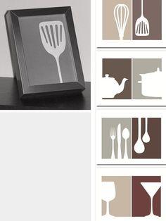 Kitchen Art - Free PDF Printables in 4x6 & 5x7 Sizes.