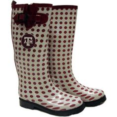 Make sure you have a pair of rain boots when you move off to college! Especially at Texas A & M, our campus sidewalks flood like no other!