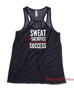Items similar to Workout Clothes, Womens Tank Top, Workout Tank, Black Racerback, Sweat Sacrifice Success on Etsy Workout Tank Tops, Workout Shirts, Workout Clothing, Exercise Clothes, Exercise Equipment, Fitness Clothing, Work Clothes, Workout Attire, Workout Wear