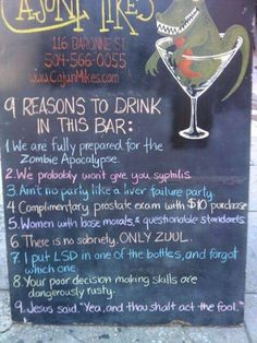 I'd drink there!