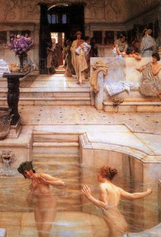 Sir Lawrence Alma-Tadema - A Favorite Custom