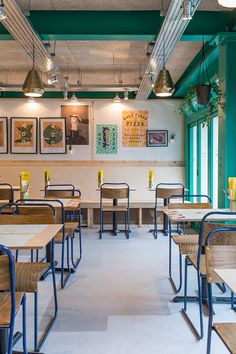 400 Rabbits Pizza restaurant interior design project by Richardson Studio Coffee Shop Design, Cafe Design, Store Design, Design Design, Design Ideas, Restaurant Interior Design, Home Interior, Luxury Interior, Café Bistro