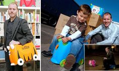 Dragon's Den's most successful reject: Trunki inventor sells TWO MILLION children's sit-on suitcases and now turns over £1m a year